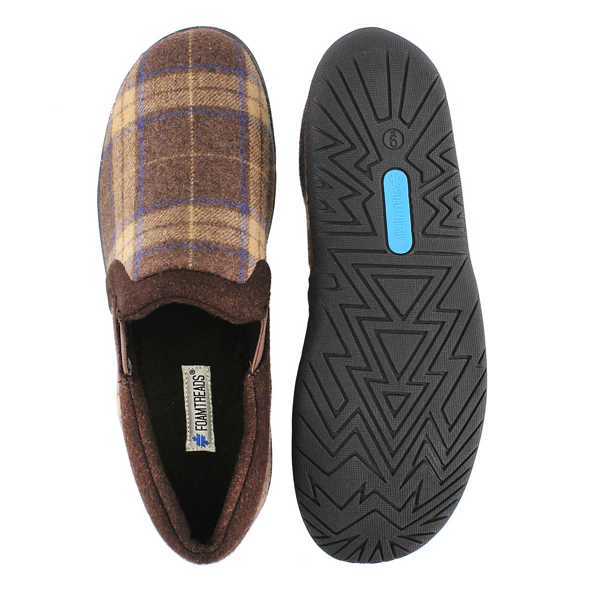 Mns Beaumont choc closed back slipper