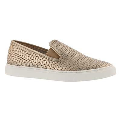 Lds Becker champagne casual slip on shoe