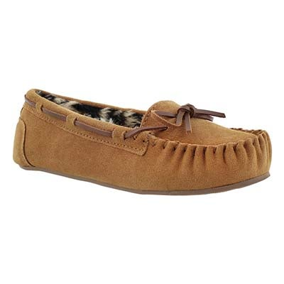 SoftMoc Women's BECKY chestnut suede ballerina moccasins