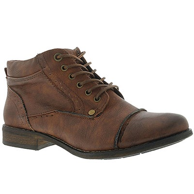SoftMoc Women's BELICIA cognac lace-up ankle boots