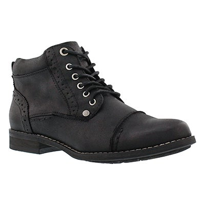 SoftMoc Women's BELICIA II black lace up ankle boots
