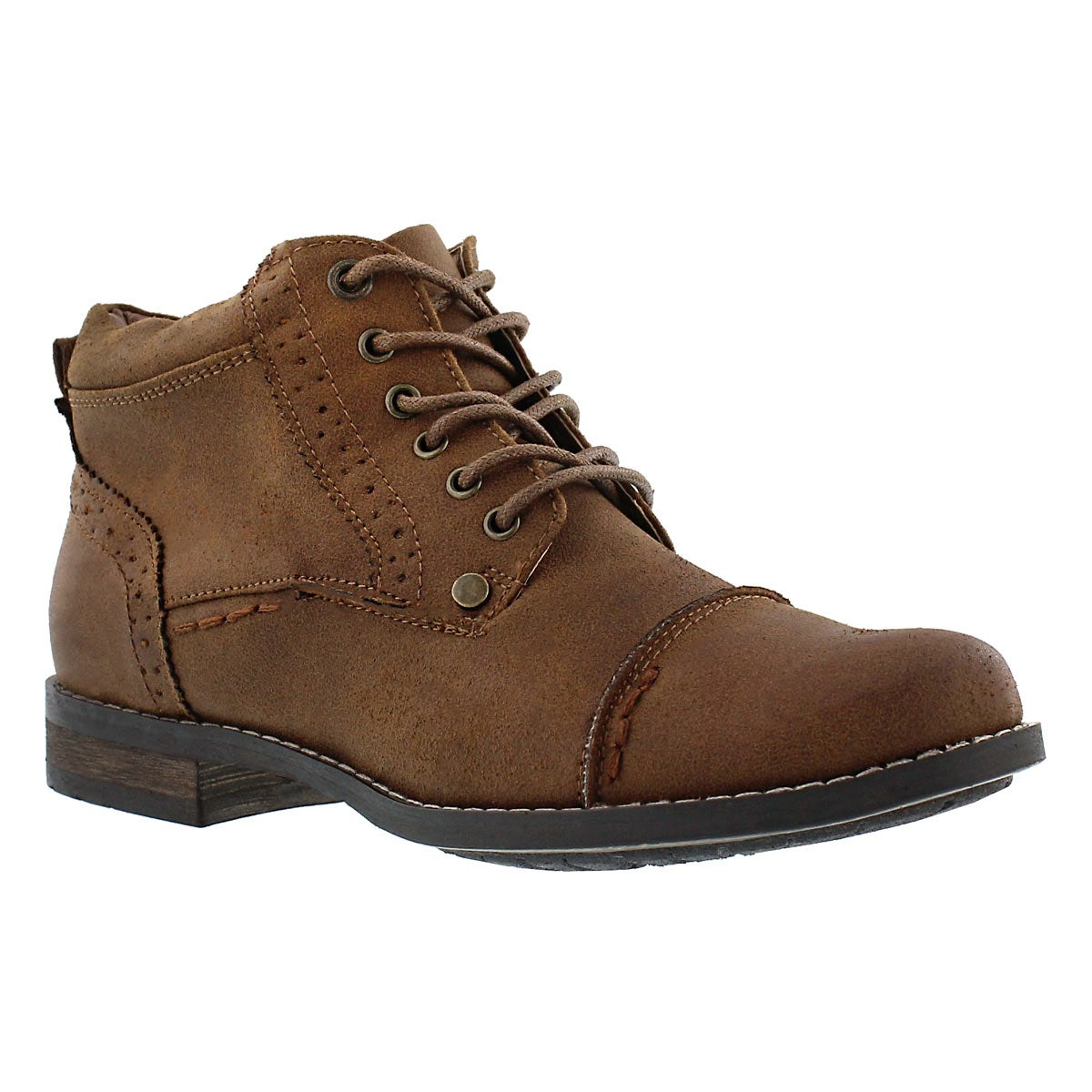 SoftMoc Women's BELICIA II brown lace up ankle boots