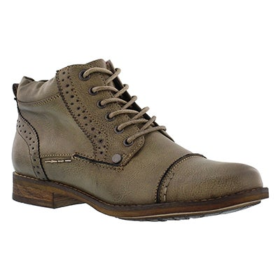 SoftMoc Women's BELICIA  II taupe lace up ankle boots