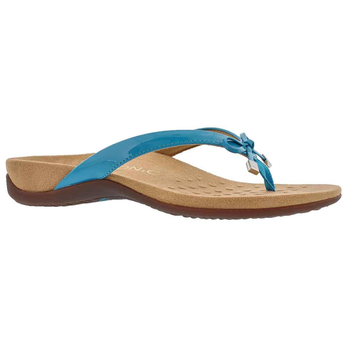 Women's BELLA II blue arch supprt thong sandals
