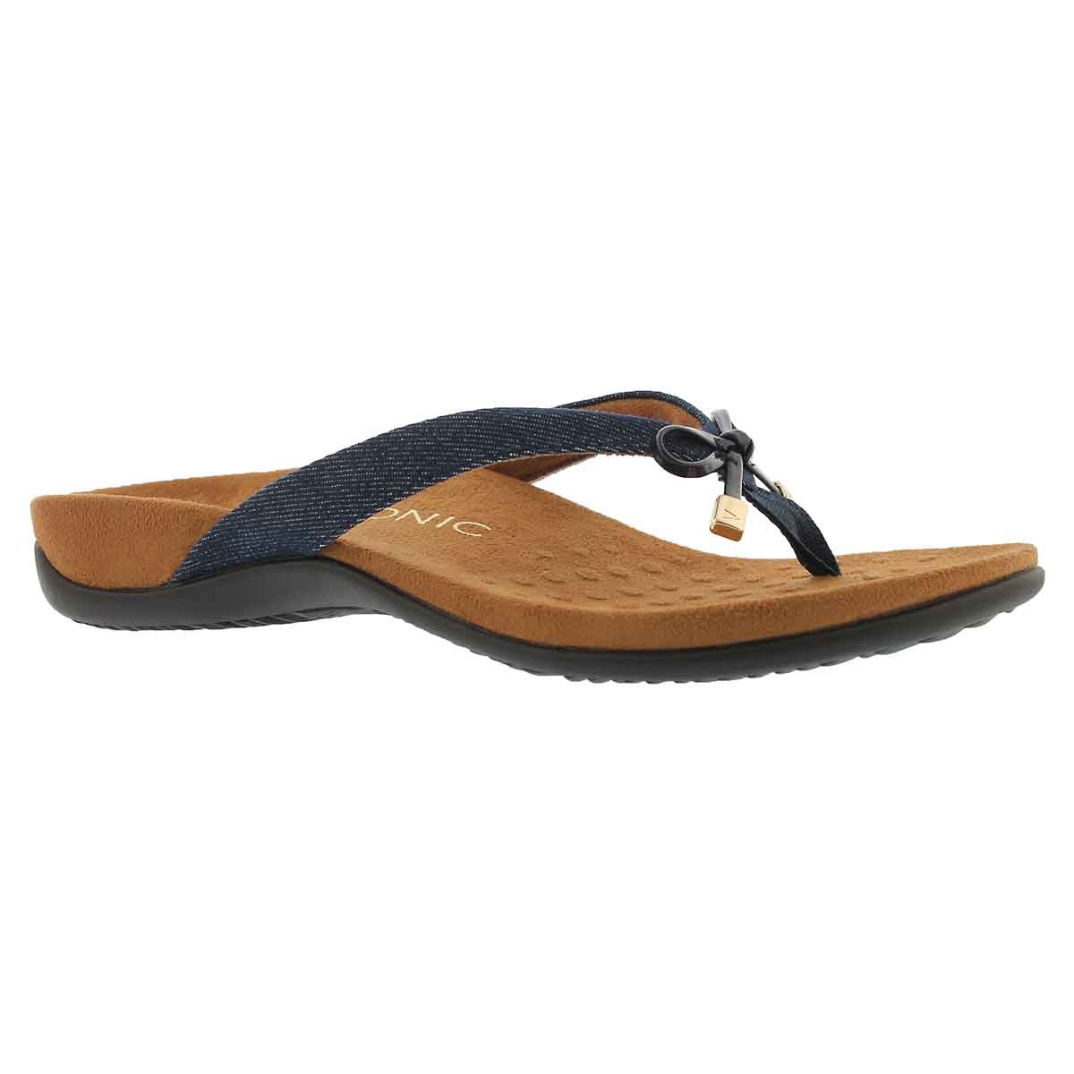 Women's BELLA II denim arch supprt thong sandals