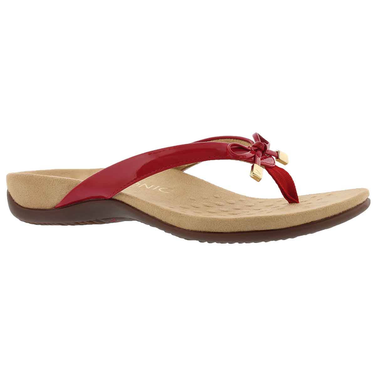 Women's BELLA II red arch supprt thng sandals