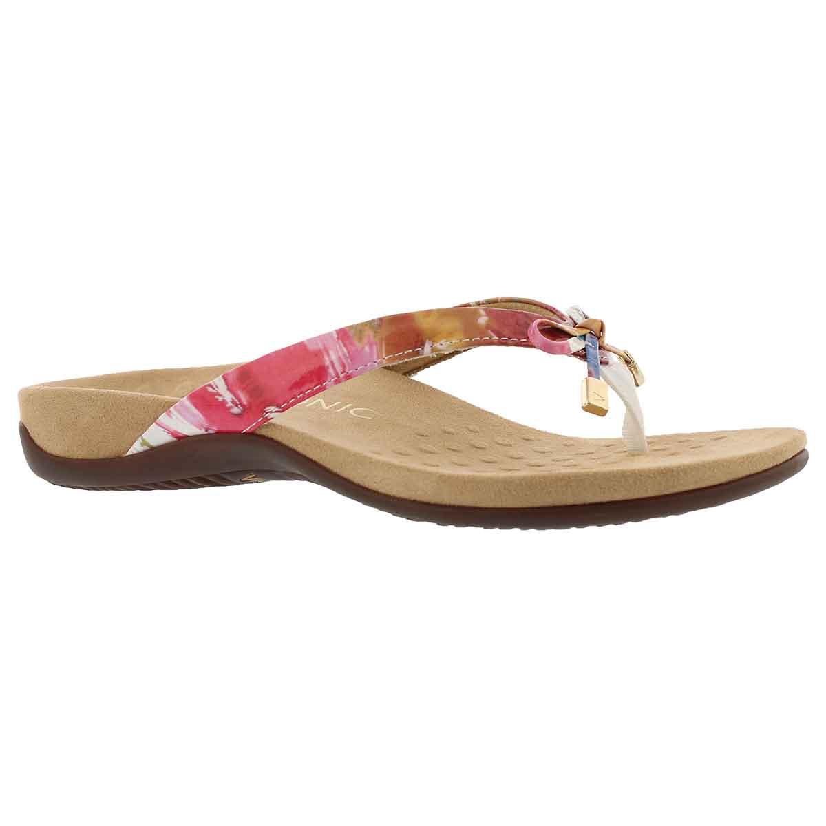Women's BELLA II floral arch supprt thong sandals
