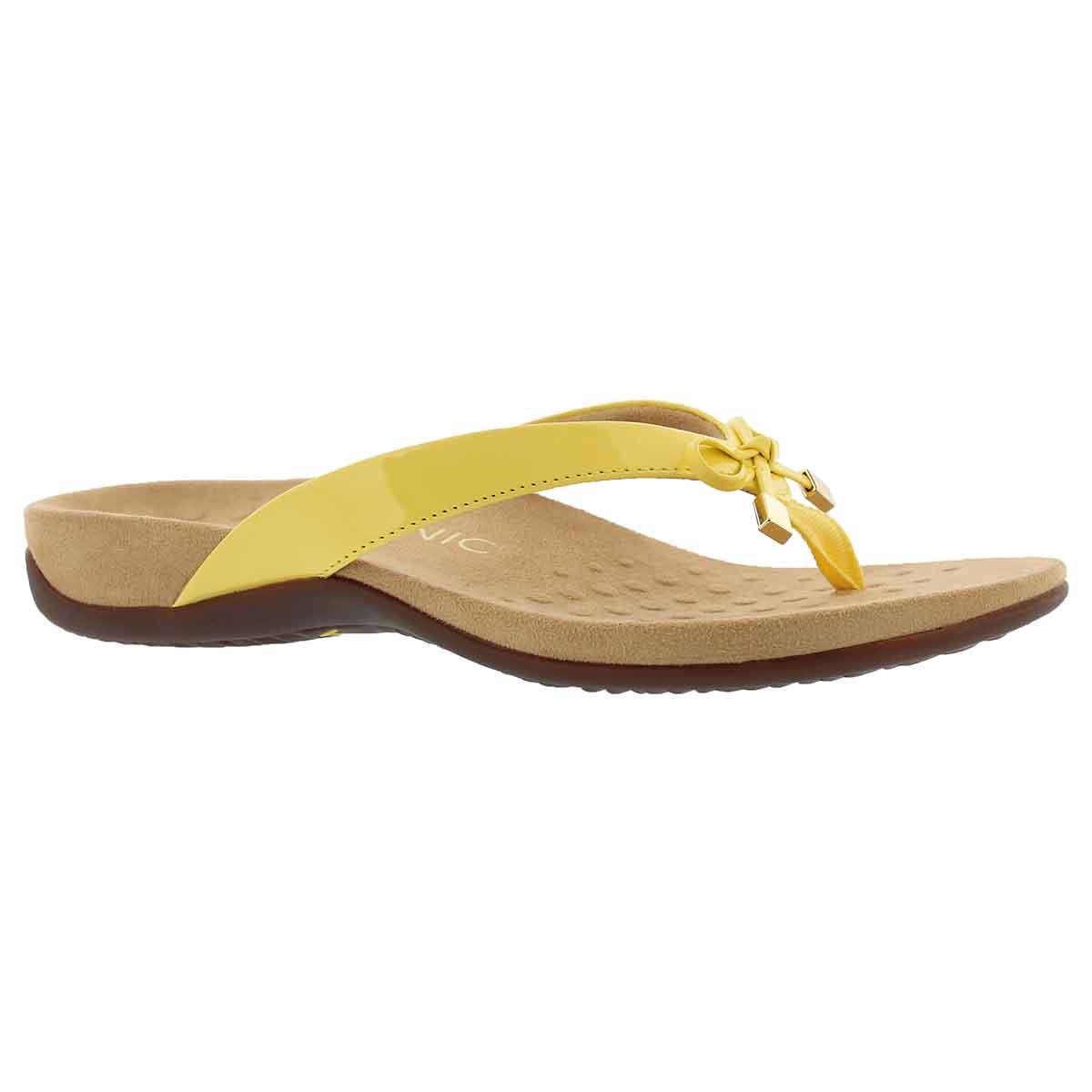 Women's BELLA II yellow arch supprt thong sandals