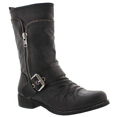 SoftMoc Women's BELLAMY black casual buckle boot