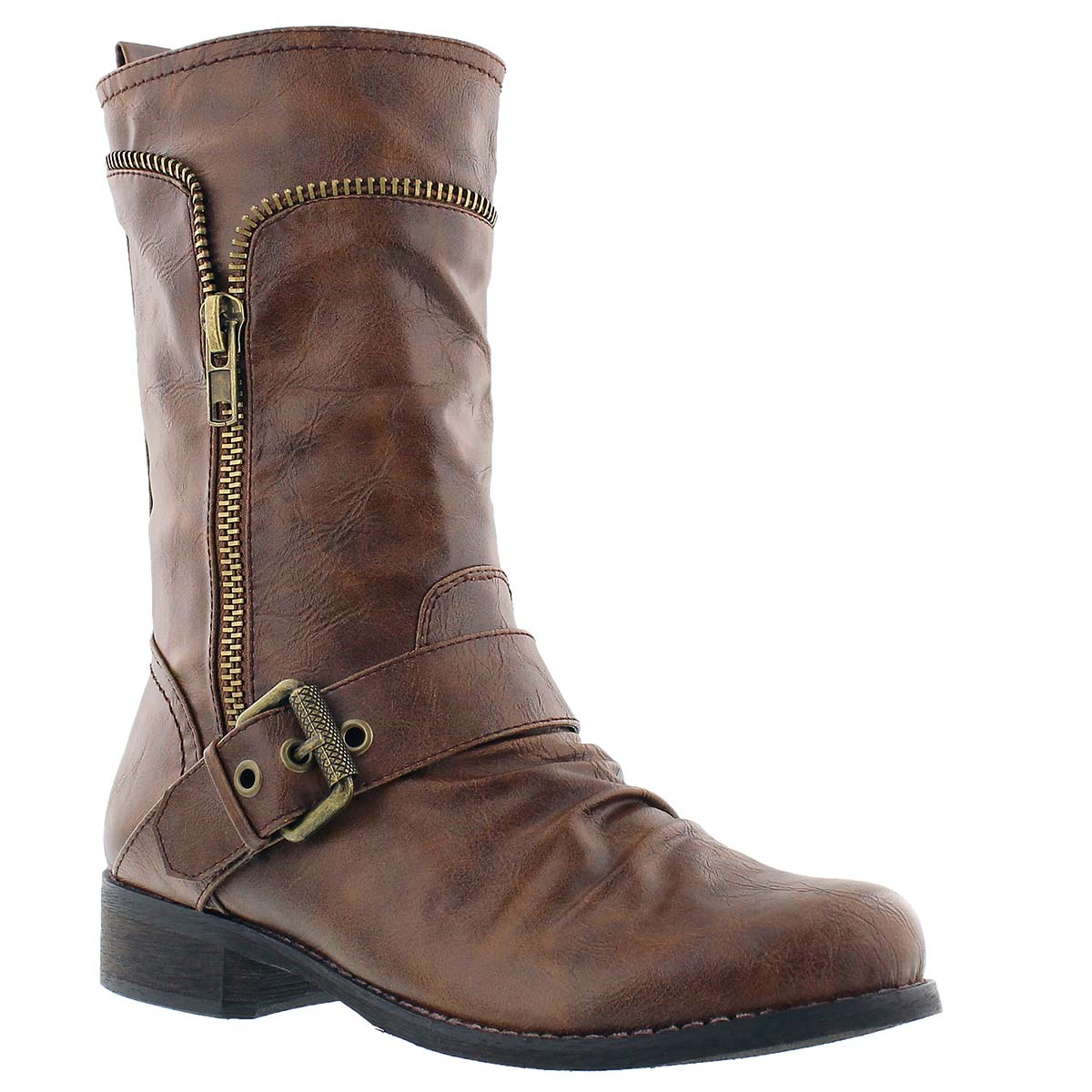 Lds Bellamy camel casual buckle boot