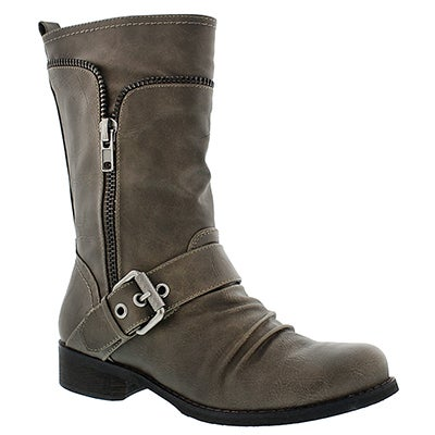 SoftMoc Women's BELLAMY grey casual buckle boot