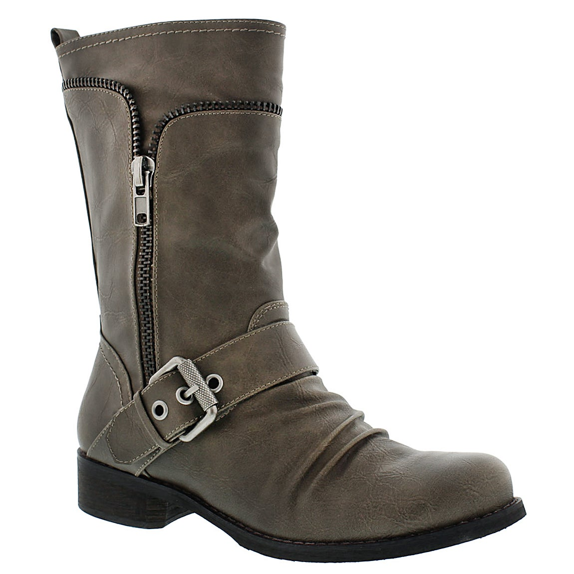 Lds Bellamy grey casual buckle boot