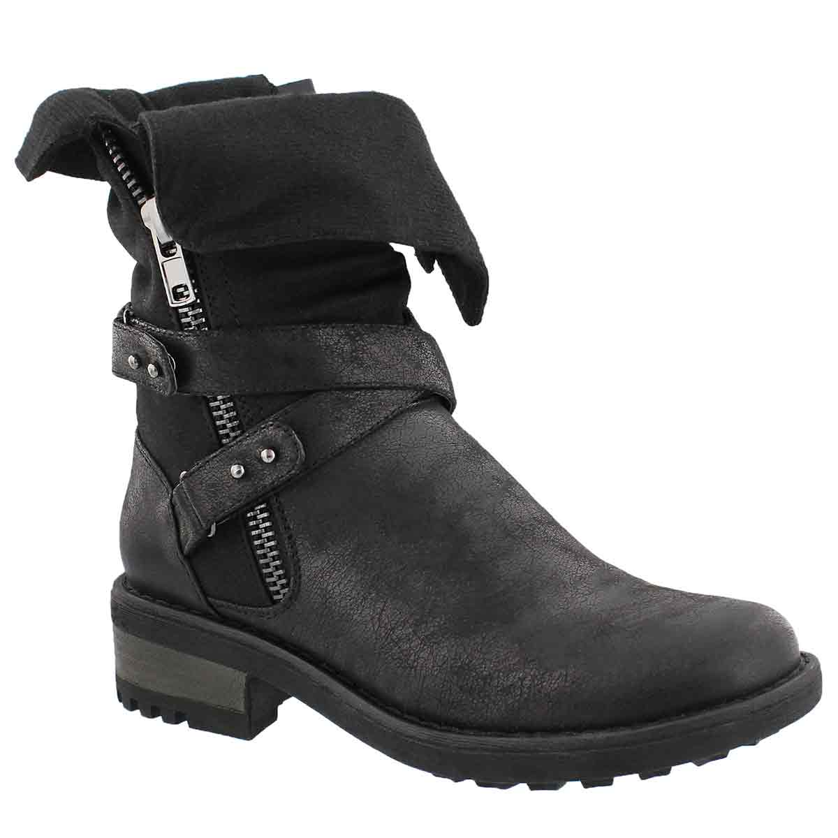 Lds Bellatrix blk casual combat boot
