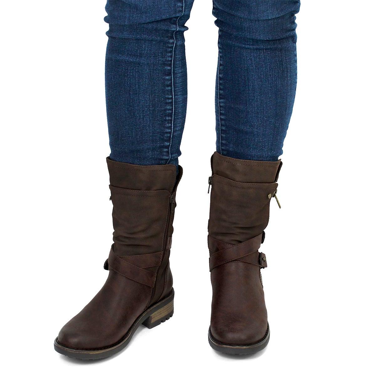 Lds Bellatrix brn casual combat boot