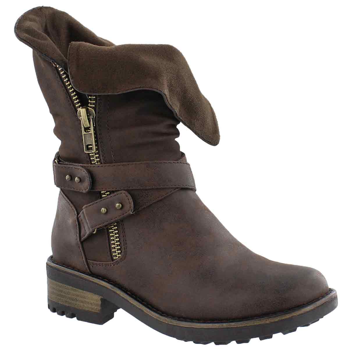 Women's BELLATRIX brown casual combat boots