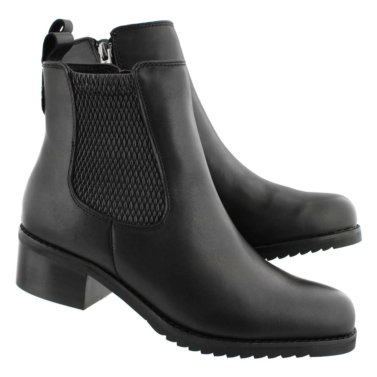 Lds Belle blk wtpf zip chelsea boot