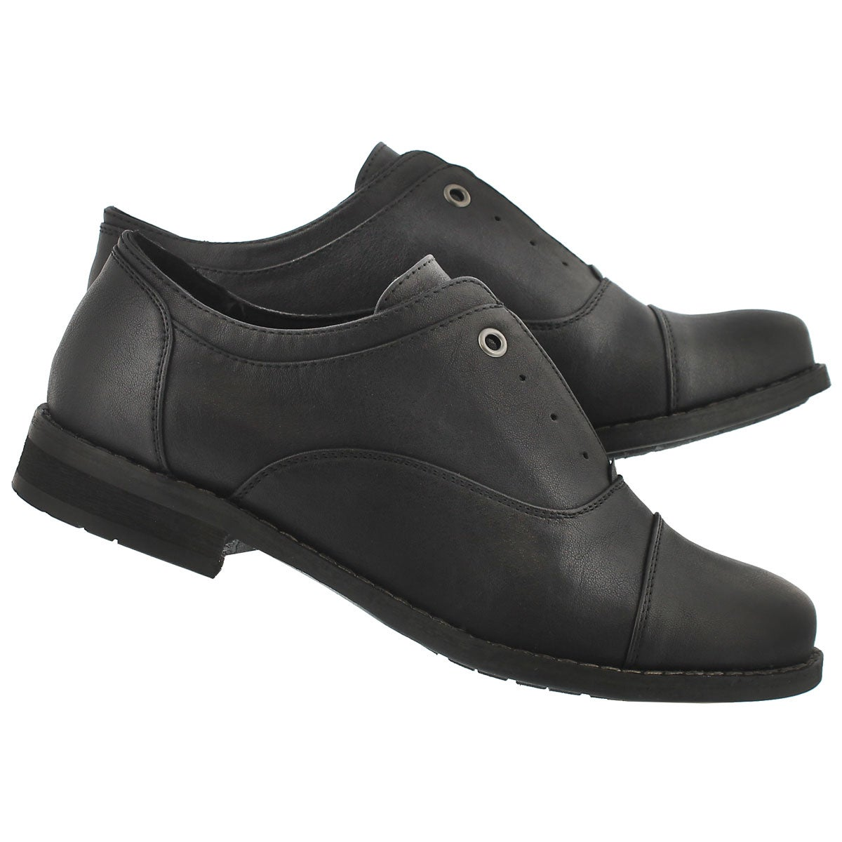 Lds Benicia blk laceless oxford