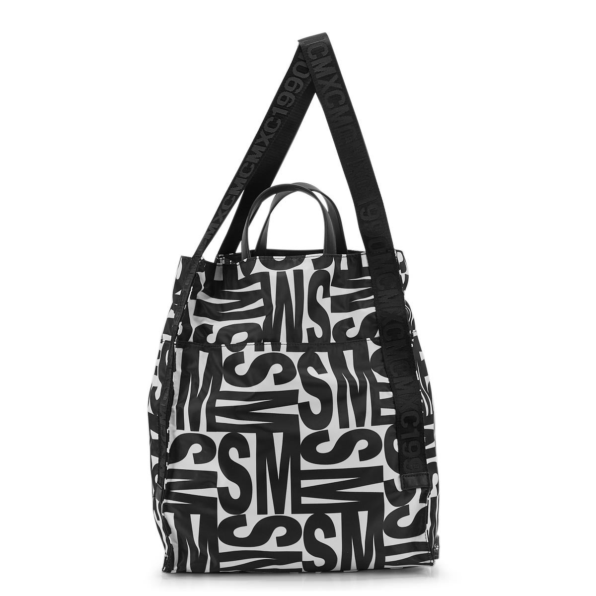 Lds BErica black/white tote bag