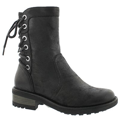 Lds Bernadine black casual ankle boot