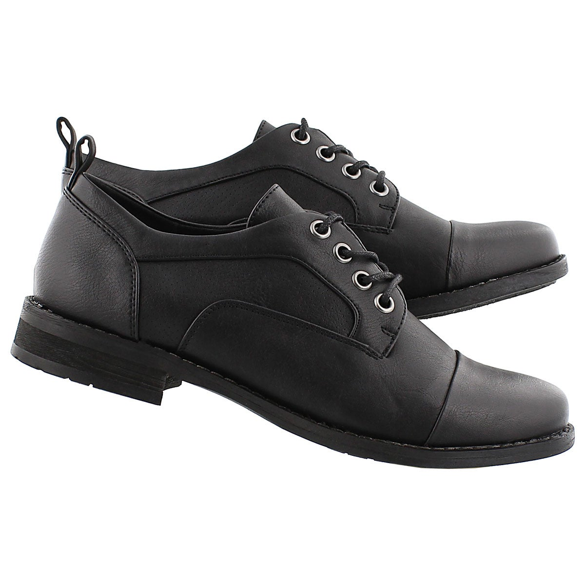 Lds Besilia black lace up oxford