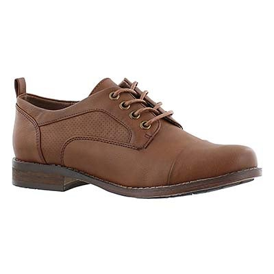 SoftMoc Women's BESILIA rust lace up oxfords