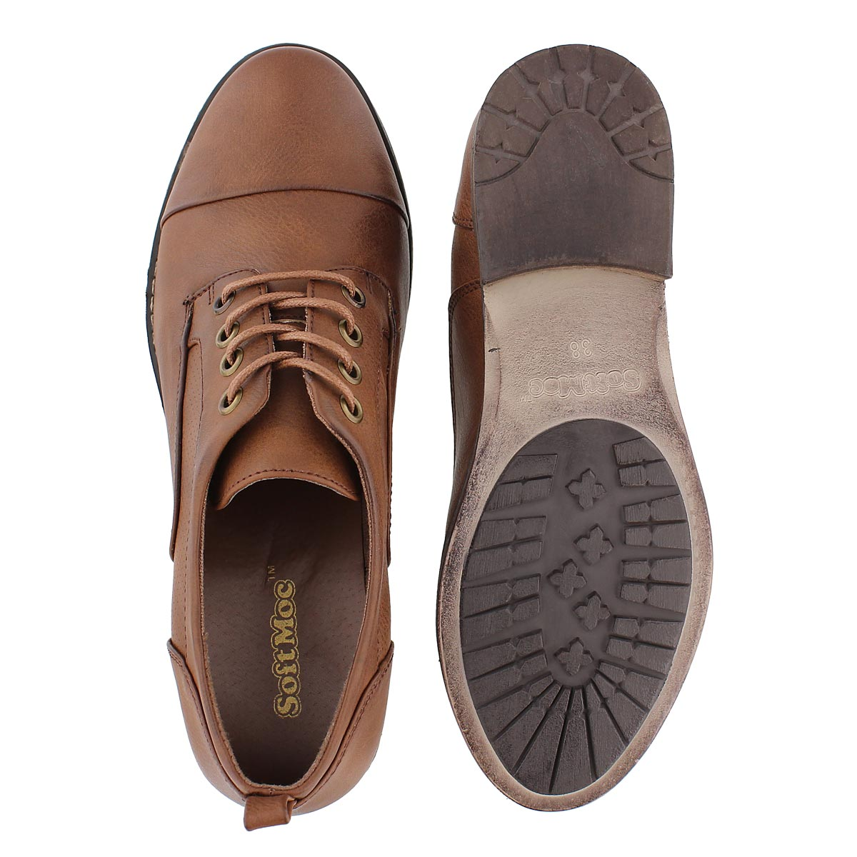 Lds Besilia rust lace up oxford