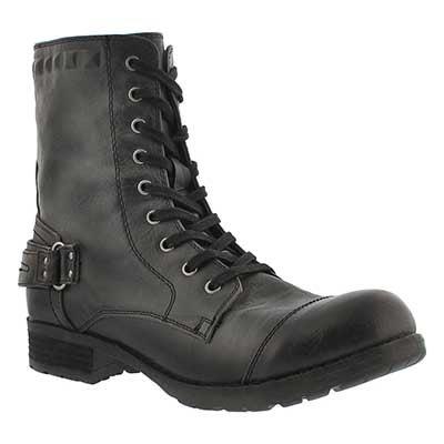SoftMoc Women's BETHANY black combat boots