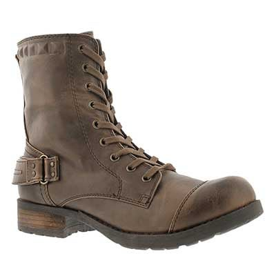 SoftMoc Women's BETHANY brown combat boots