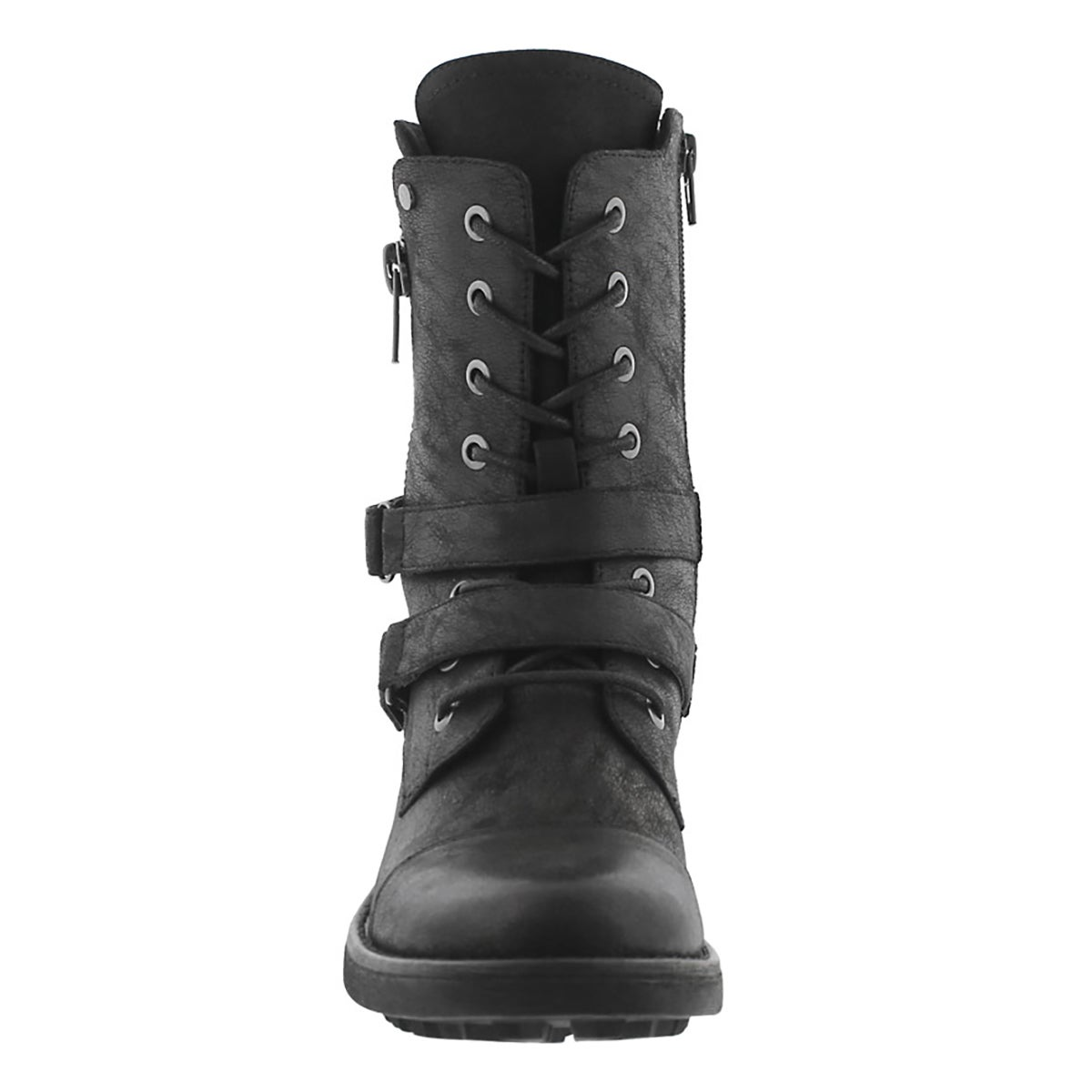 Lds Bex black lace up combat boot