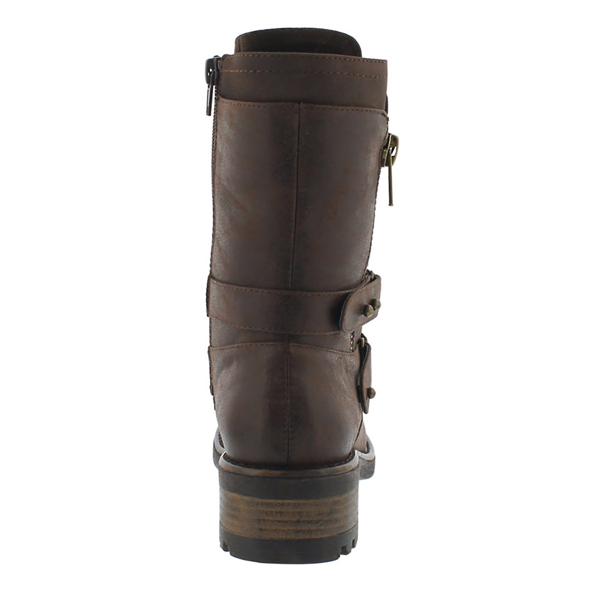 Lds Bex dk brn lace up combat boot