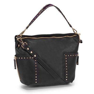 Steve Madden Women's BFRAN black hobo bag