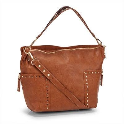 Steve Madden Women's BFRAN cognac hobo bag