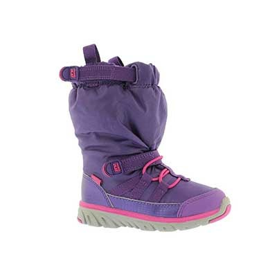 Stride Rite Infants' M2P SNEAKER BOOT purple winter boots