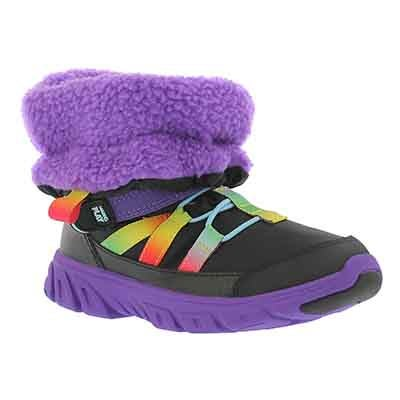 Stride Rite Girls' M2P SNEAKER BOOT MLP blk/mlt winter boots