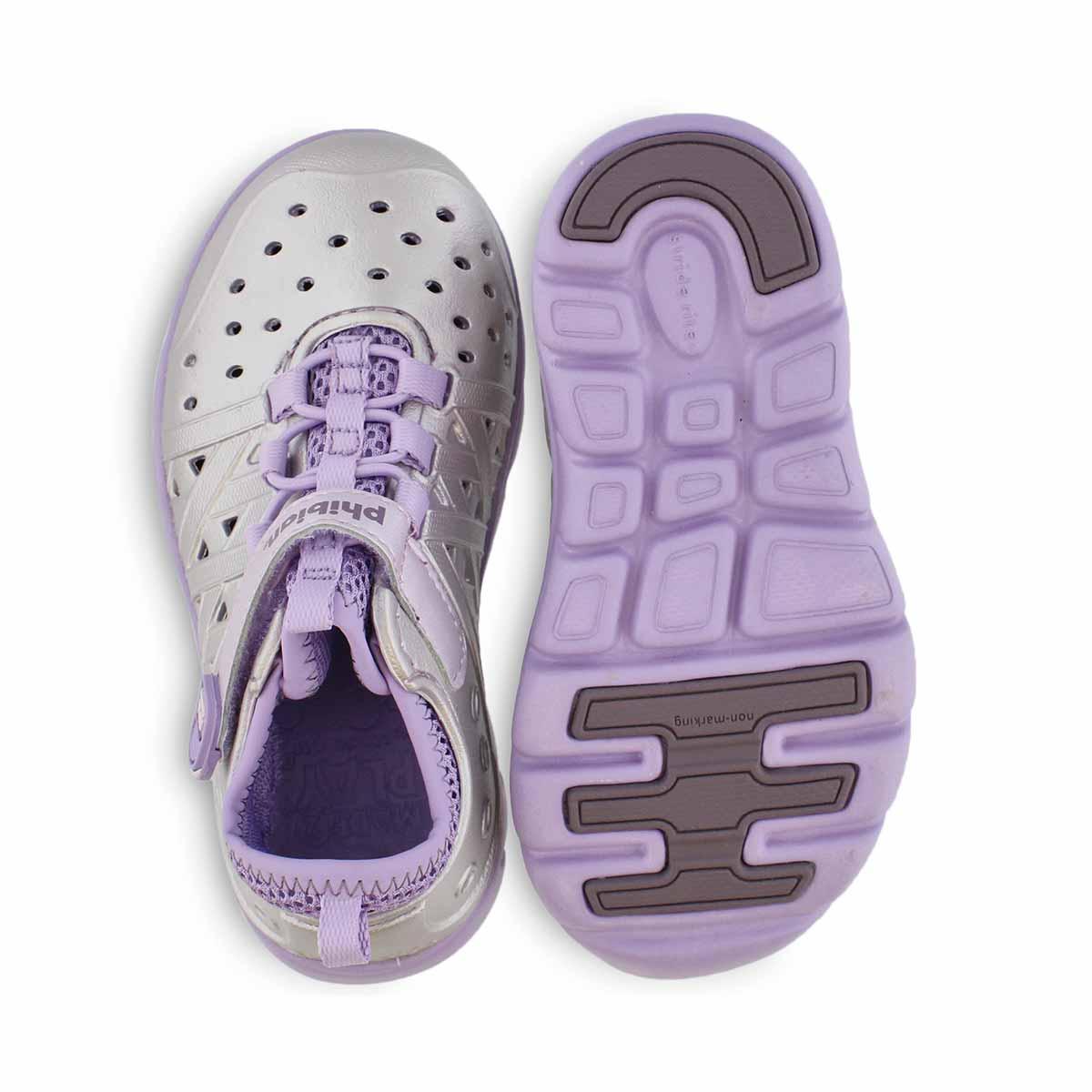 Grls M2P Phibian ppl/mtlc sneaker