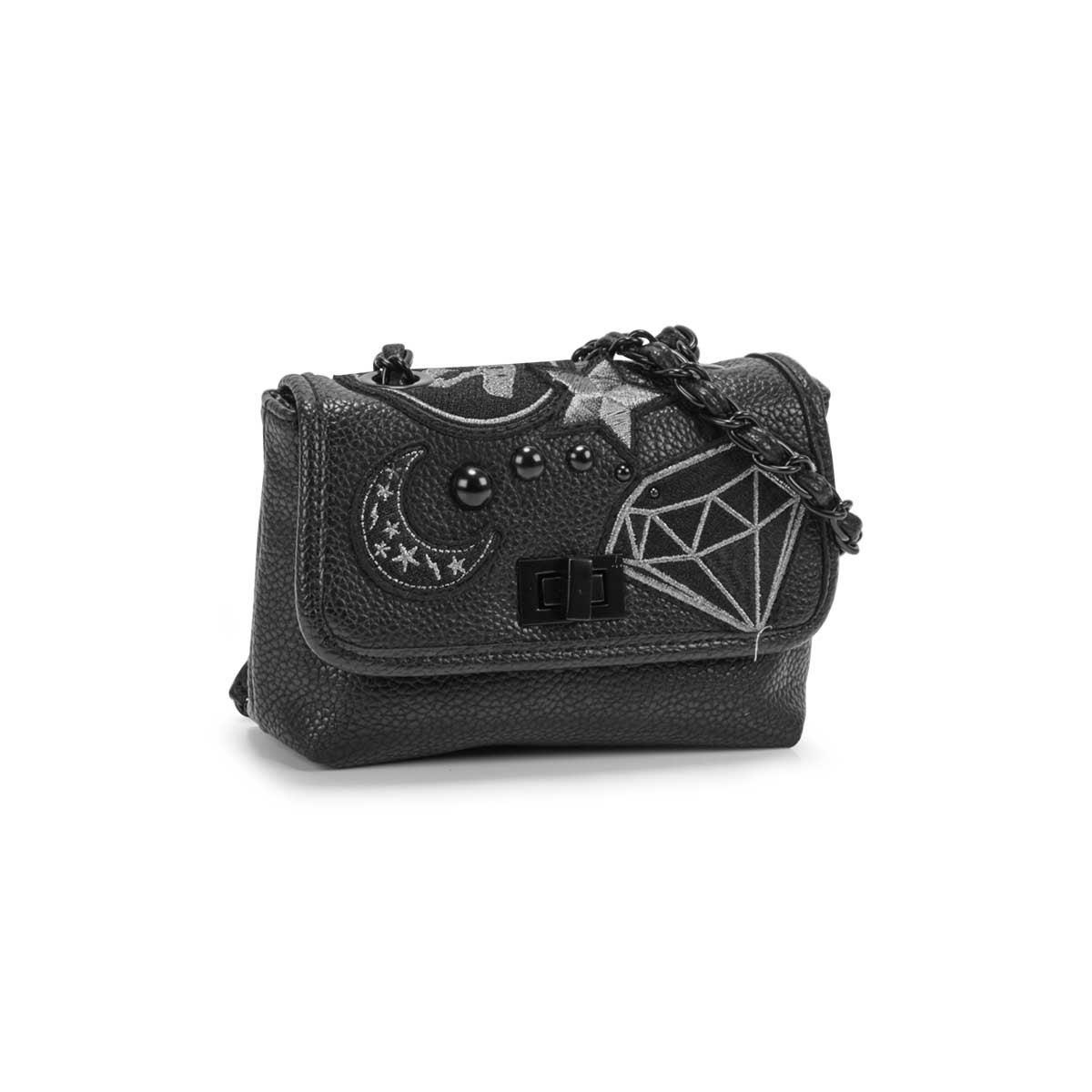 Lds BHayley black cross body bag