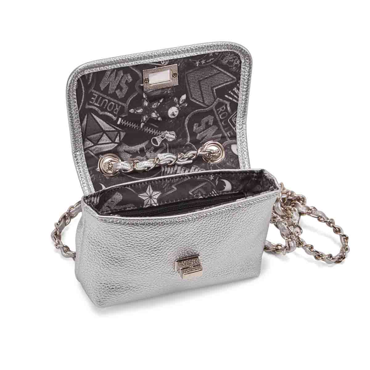 Lds BHayley silver cross body bag