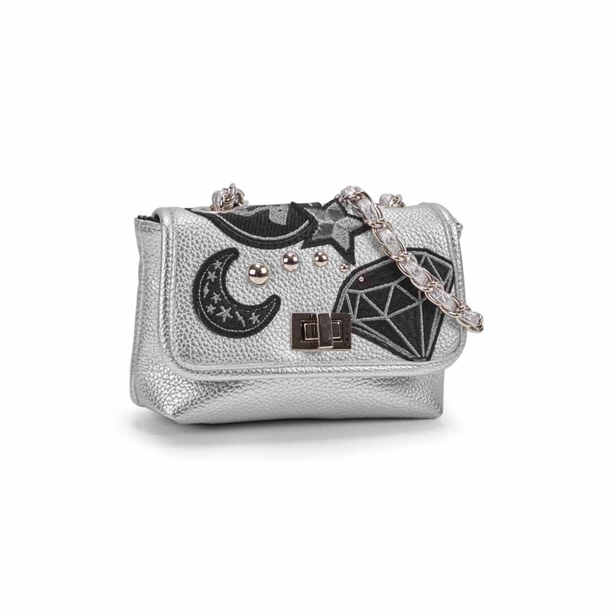 Women's BHAYLEY silver crossbody bag