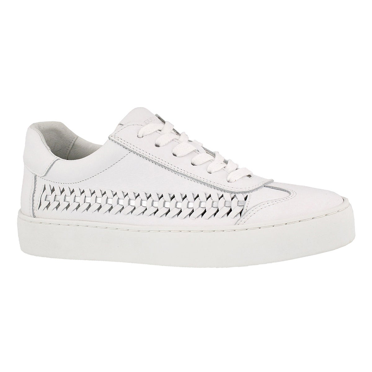 Women's BIANA white casual lace up sneakers