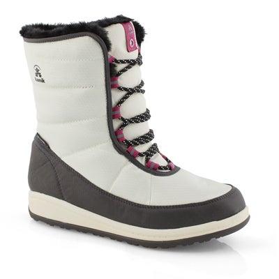 Lds Bianca white winter boot