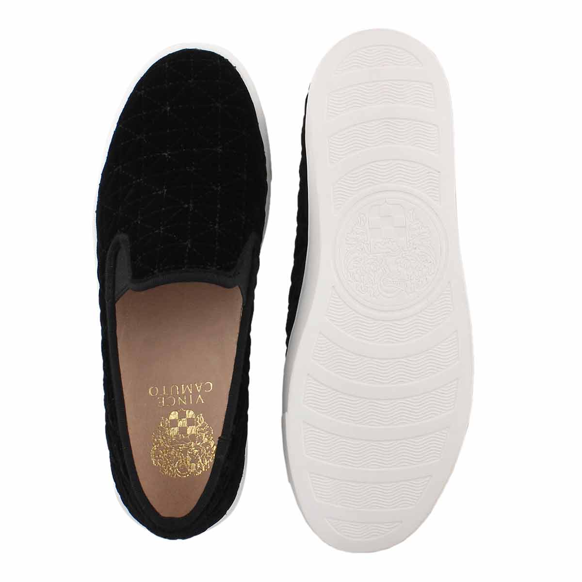 Lds Billena black casual slip on shoe