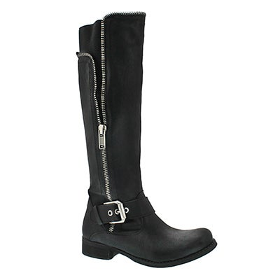 SoftMoc Women's BIRGITTA black riding boots