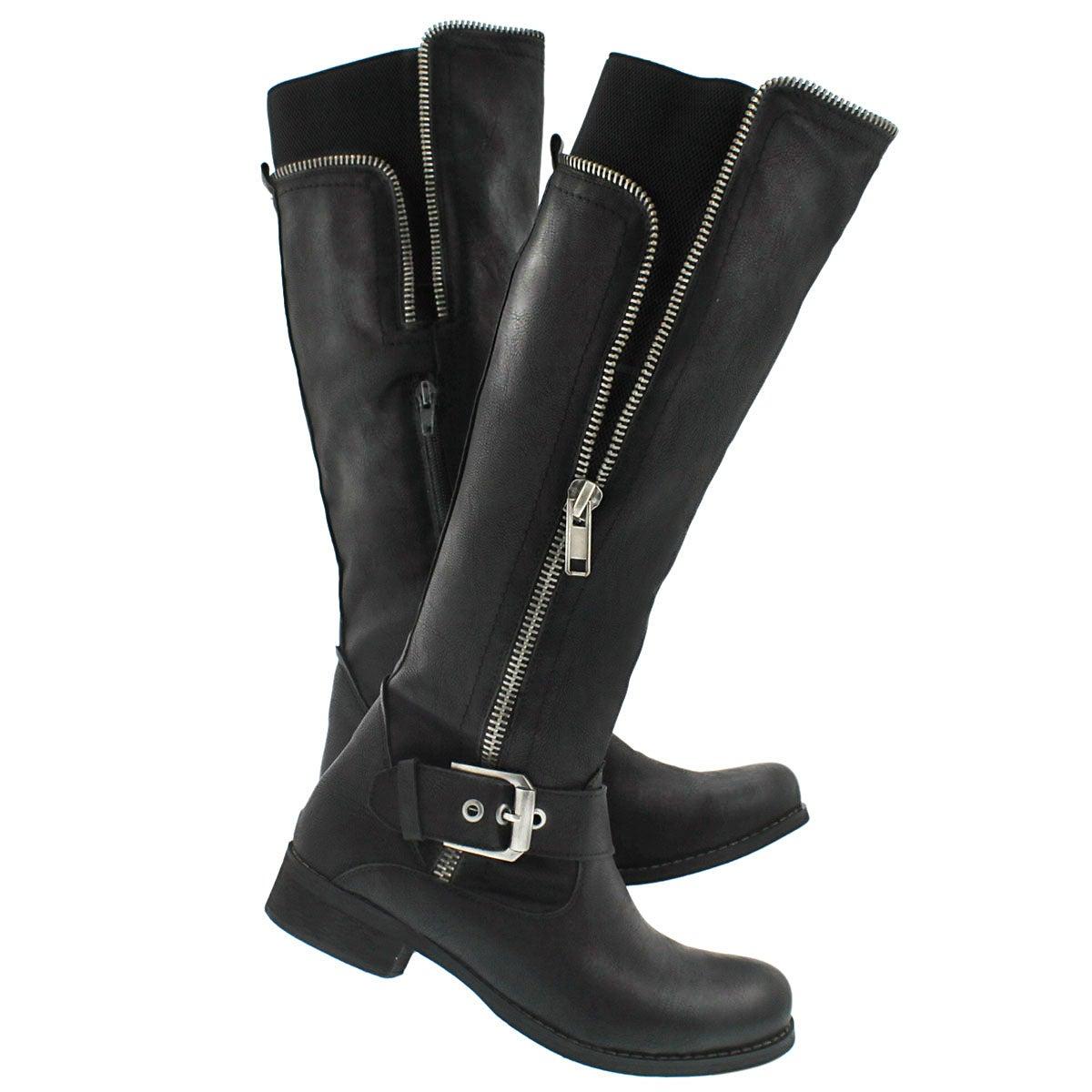 Lds Birgitta blk riding boot