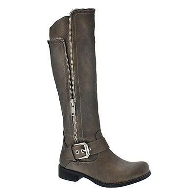 Lds Birgitta taupe riding boot
