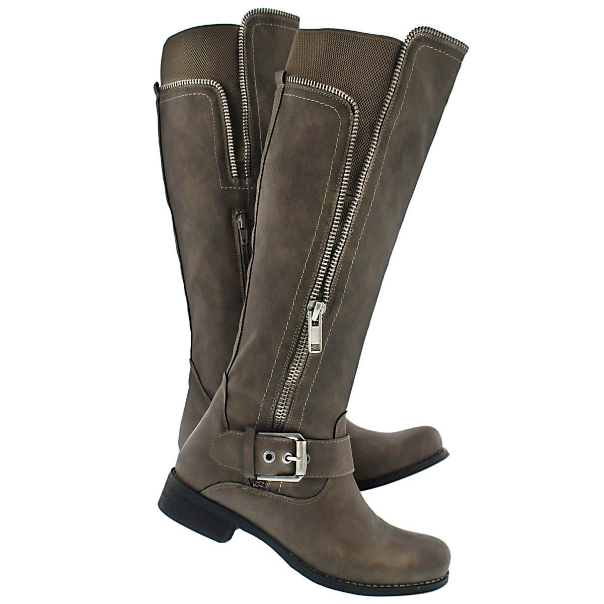 Lds Birgitta taupe riding boot