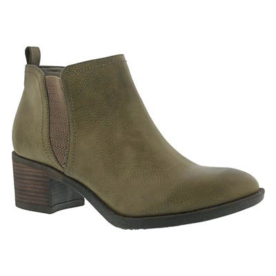 SoftMoc Women's BITSY taupe slip on ankle boots