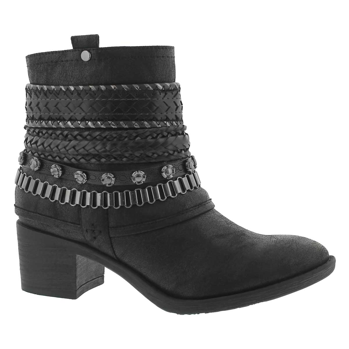 Lds Bizou III black casual ankle boot