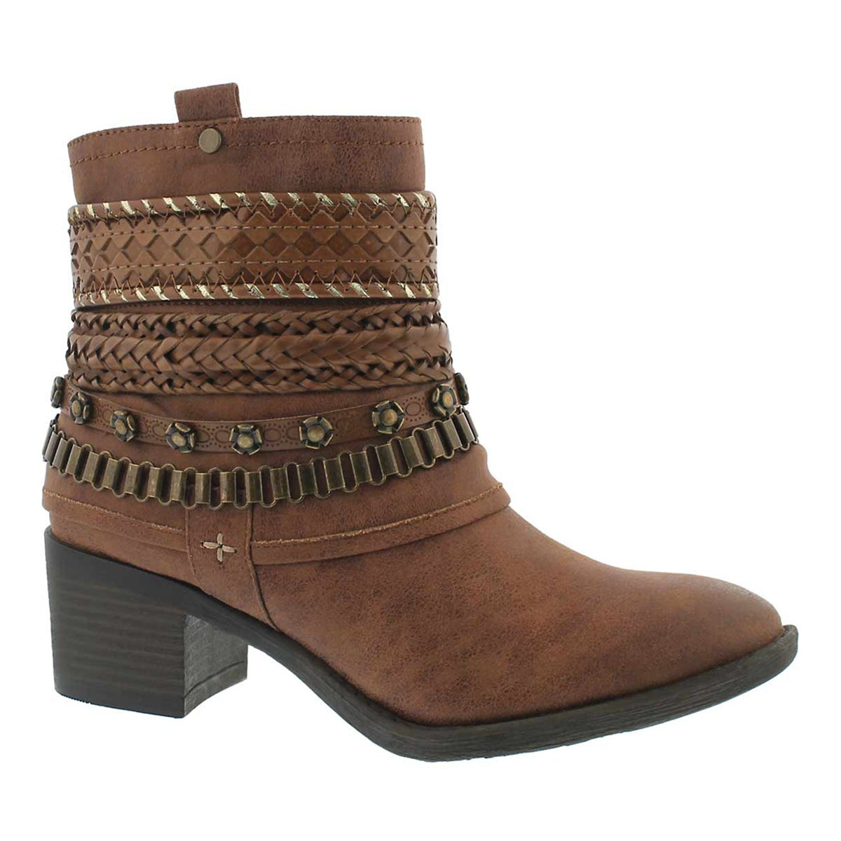 Women's BIZOU III tan casual ankle boots