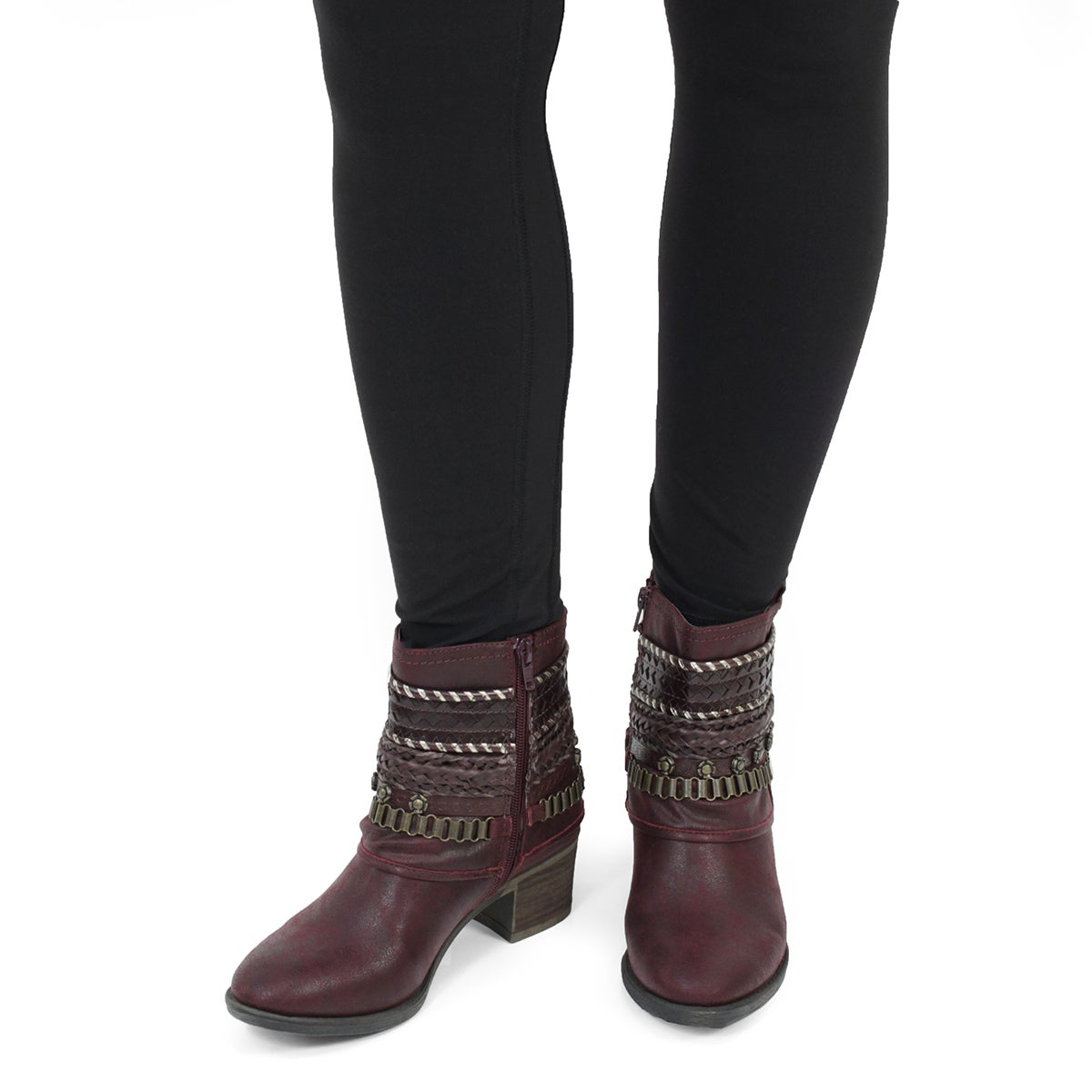 Lds Bizou III wine casual ankle boot