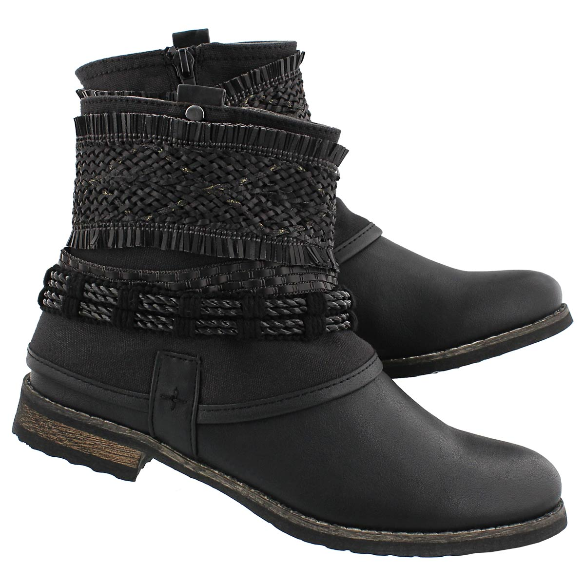 Lds Bizou 2 black casual ankle boot
